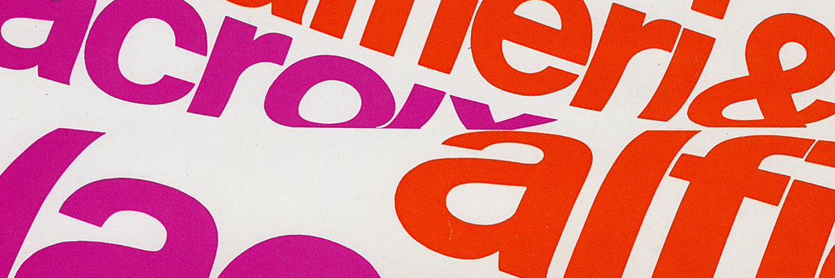 Type@Cooper - Franco Grignani: Graphic and Typographic Freedom